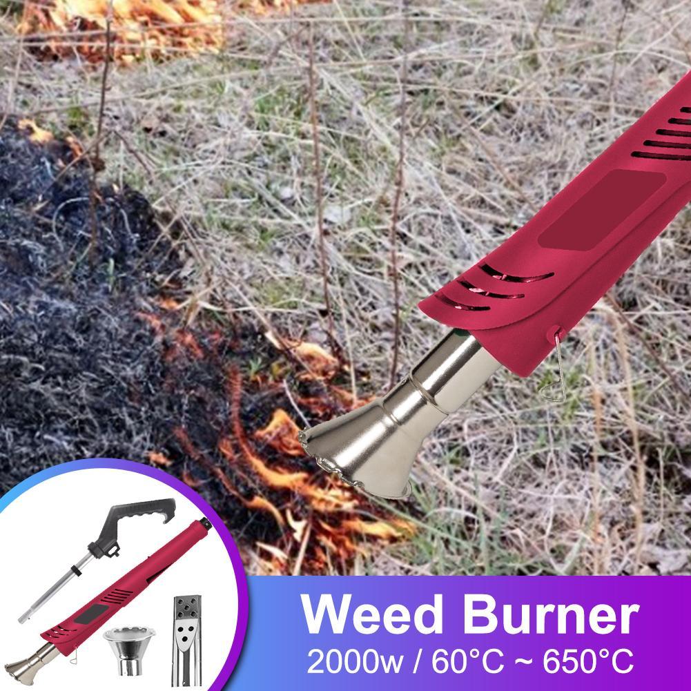 2000W Electric Thermal Weeder Hot Air Weed Killer Grass Flame/Weed Burner Of Garden Tools  Lawnmower Weeder Power Tool