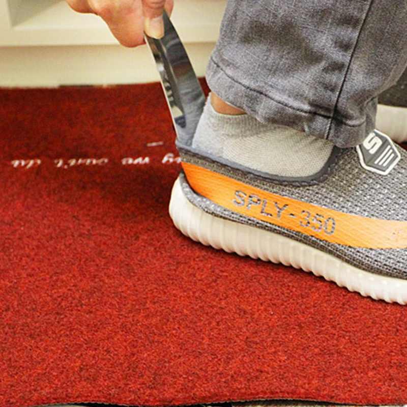 1PC ポータブルシルバーステンレス鋼金属靴ホーンスプーン靴べらプロの家庭用ツール金属靴ホーン 176*44 ミリメートル