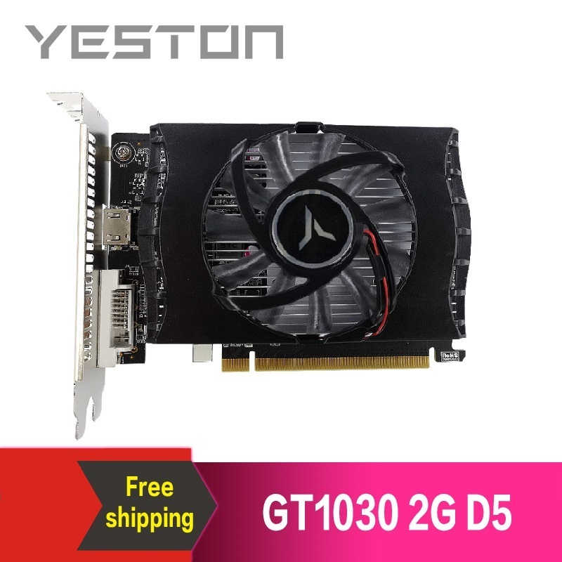 Yeston GeForce GT 1030 2GB GDDR5 Graphics cards Nvidia pci express 3.0 Desktop computer PC video gaming graphics card 1