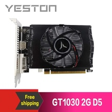 Yeston placa de vídeo geforce gt 1030 2gb gddr5, placas gráficas nvidia pci express 3.0 desktop computador pc placa de vídeo para jogos