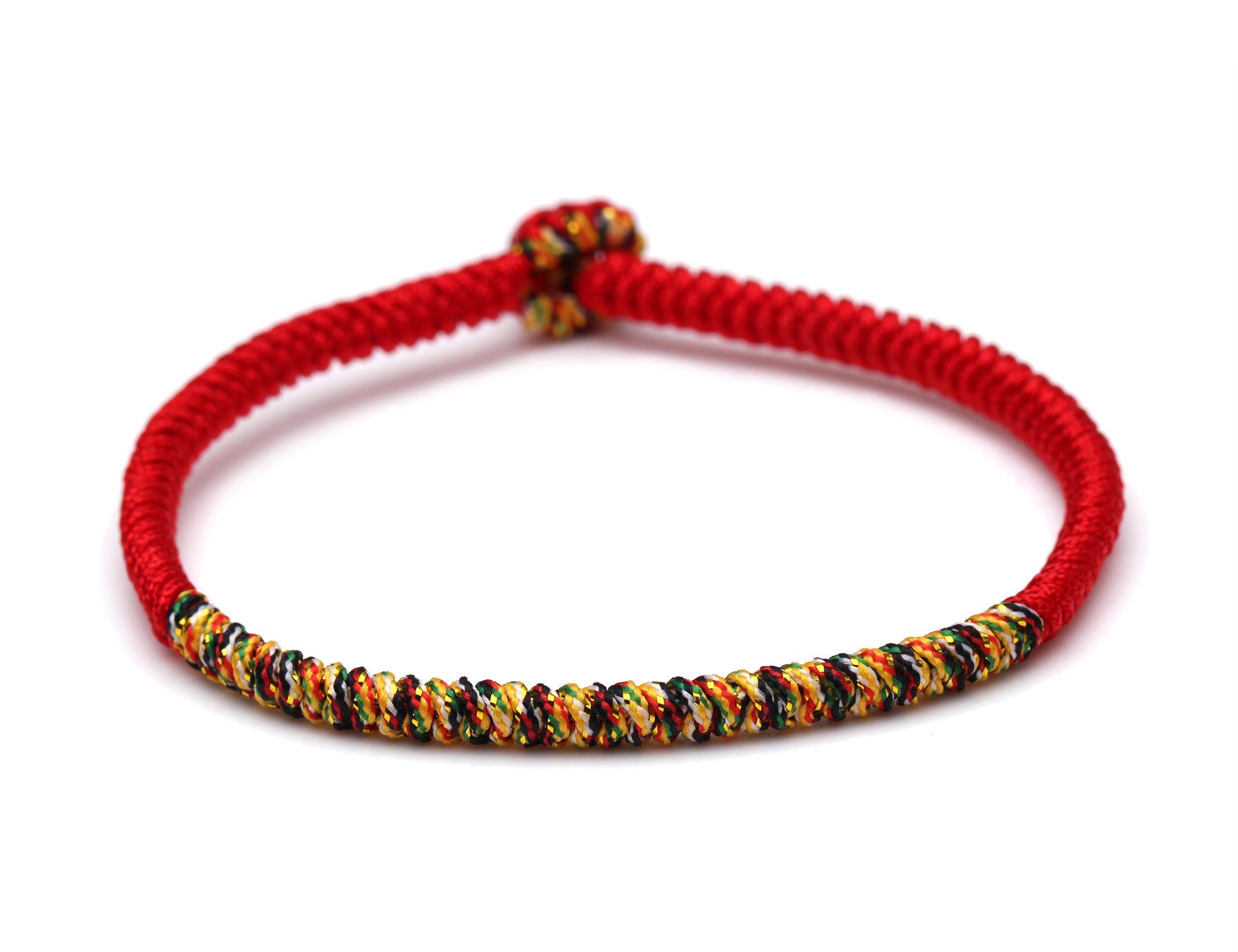 Tibetan Buddhist Lucky Knot Colorful Prayer Handmade Bracelet Women Men 2020 New Fashion String Braided Ethnic Jewelry Present