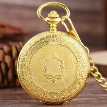 Top Luxury Golden Shield Design szkieletowa tarcza mechaniczne ręczne nakręcanie kieszonkowy zegarek kieszonkowy cyfry rzymskie zegar dla kobiet mężczyzn prezenty tanie tanio YISUYA CN (pochodzenie) Mechaniczna Ręka Wiatr STAINLESS STEEL ROUND ANALOG Golden Shiled Pocket Watch Stacjonarne Szkło