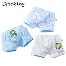3Pcs/Lot  Boys Cartoon Underwear Astronaut Space Children Underpants Cotton Kids Panties Comfortable Soft Toddler Boxer
