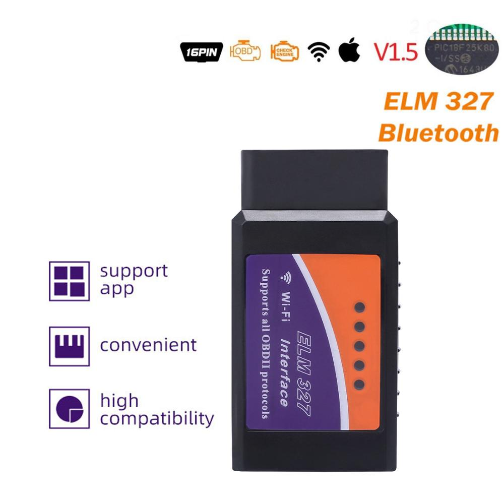 ELM327 V1.5/V2.1 Bluetooth/Wifi OBD2 Automotriz Scanner Auto Diagnostic OBDII Tool  For Android/IOS/Windows