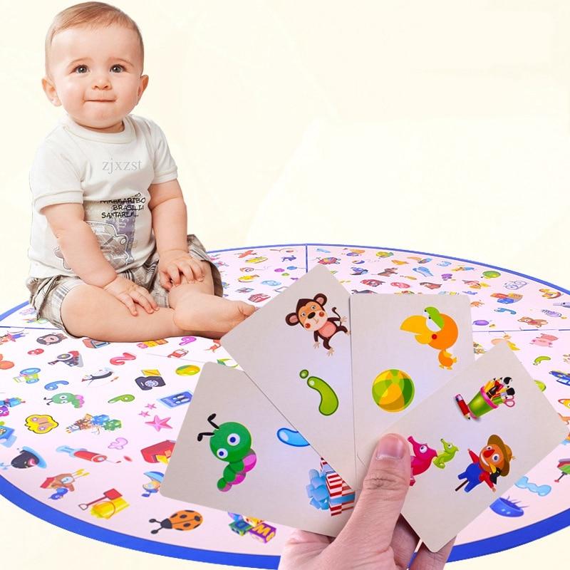 Bebê montessori quebra-cabeça educação jogo criança detetives