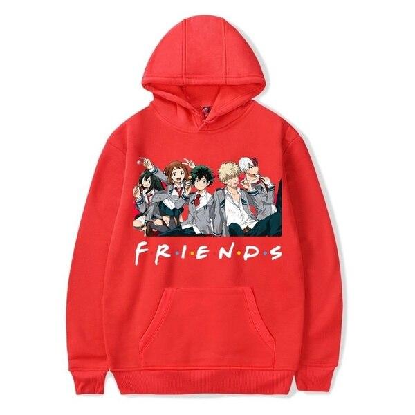 Friends Oversized Hoodie Sweatshirt Women Men My Hero Academia Friends Polerone Bluza Damska Korean Clothe Streetwear Sweatshirt 4