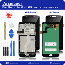 """For Motorola Moto G5 XT1672 XT1676 XT1670 5.0"""" LCD Display Touch Screen Digitizer Assembly Replacement Parts + Tools"""