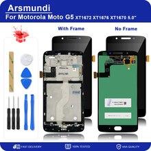 ЖК-дисплей для Motorola Moto G5 XT1672 XT1676 XT1670, сенсорный экран 5,0 дюйма, дигитайзер в сборе, запасные части + Инструменты