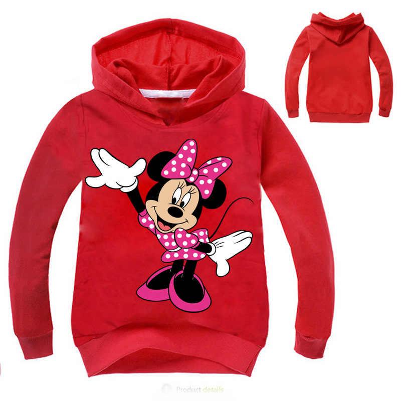 Hiver Minnie Mickey Mouse enfant en bas âge bébé enfants garçons filles à capuche dessin animé 3D sweat à capuche vêtements hauts vêtements pour enfants