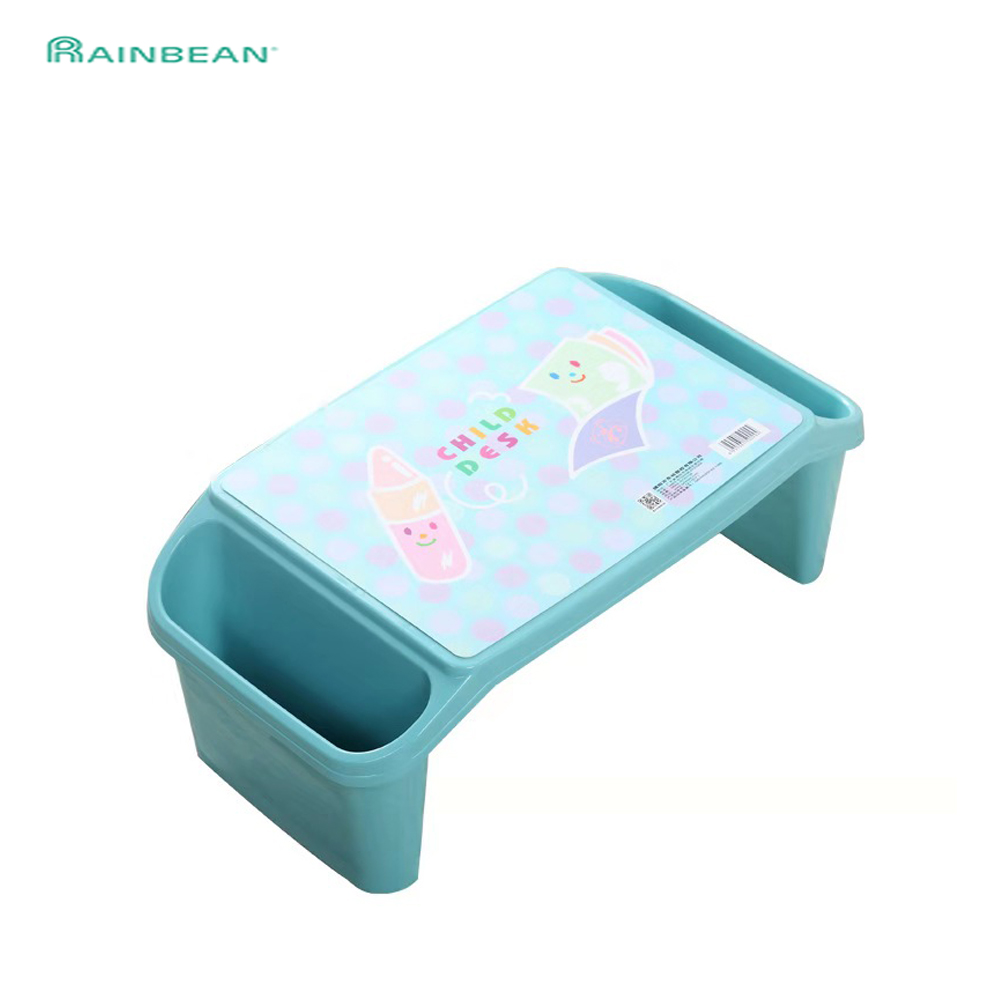 Plastic Study Table For Kids Toddlers Baby Desk With Holder Organizer Portable Laptop Desk Durable Safe Material For Children