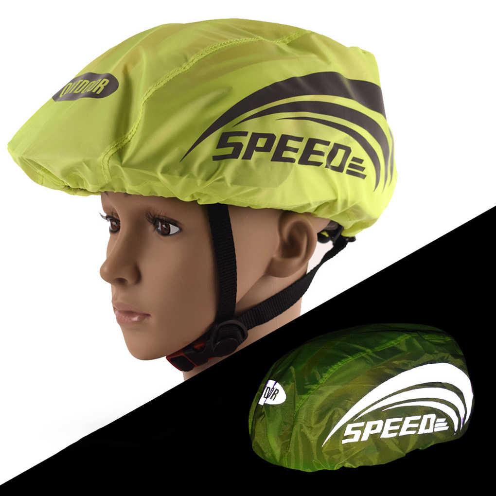 مقاوم للماء دراجة دراجة خوذة غطاء مع شريط عاكس الدراجات الجبلية الطريق دراجة أكسفورد المطر الغبار خوذة غطاء للمطر