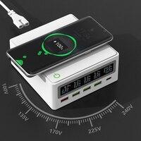 Ilepo 5ポートusb充電器タイプc pd 65ワットQC3.0電源アダプタチーワイヤレス充電器lcd急速充電器iphoneサムスンxiaomiタブレット
