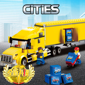 2020 City Series 02036 City Truck Pickup Caravan City Bus Station Building Blocks Airport Brick kids Toys lepining 60154 toys