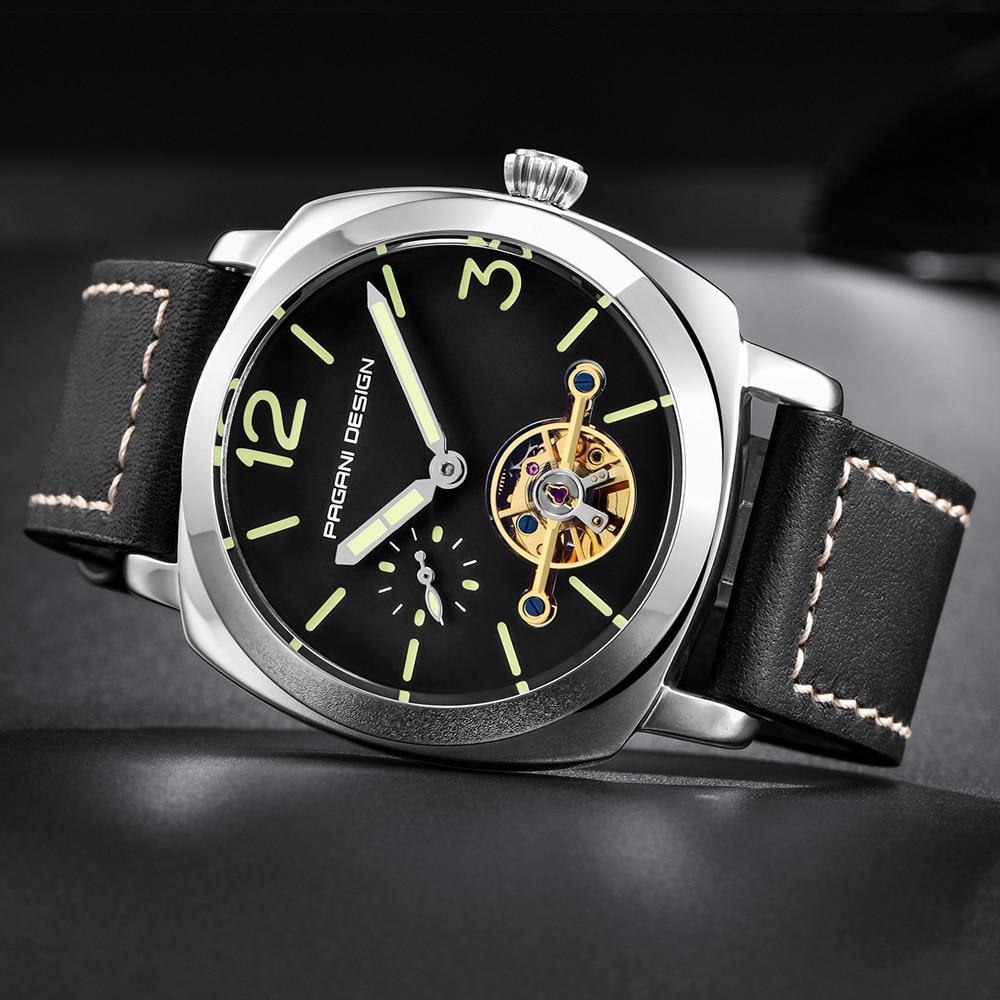 high quality PAGANI DESIGN Luxury Tourbillon Mechanical Watches Luminous Genuine Leather Fashion Casual Skeleton Automatic Watch free dropshipping (20)