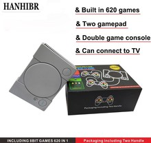 HANHIBR 620 Retro Video Game Console Double Gamepad 8 Bit Support AV Out Put TV With 2 PCS Controller 2019 Newest