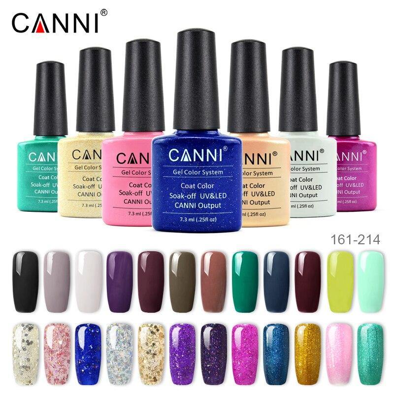CANNI Enamel Gel Nail Polish Color 194-258 New Hot Nail Art Manicure Fast Dry Base Three Steps Soak Off UV LED Nail Gel Lacquer