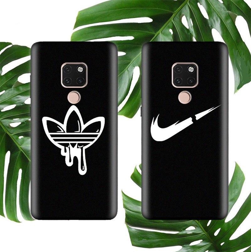 Street Sports Brand Soft Csae For Huawei P20 P30 Lite Pro Mate 20 Matte Silicon Phone Cover Fashion Logo Funda Coque