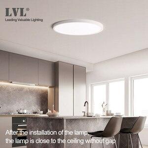 Image 5 - Lámpara de techo LED ultradelgada de montaje en superficie, moderna, 36W, 45W, 5000K, para cocina, dormitorio y baño