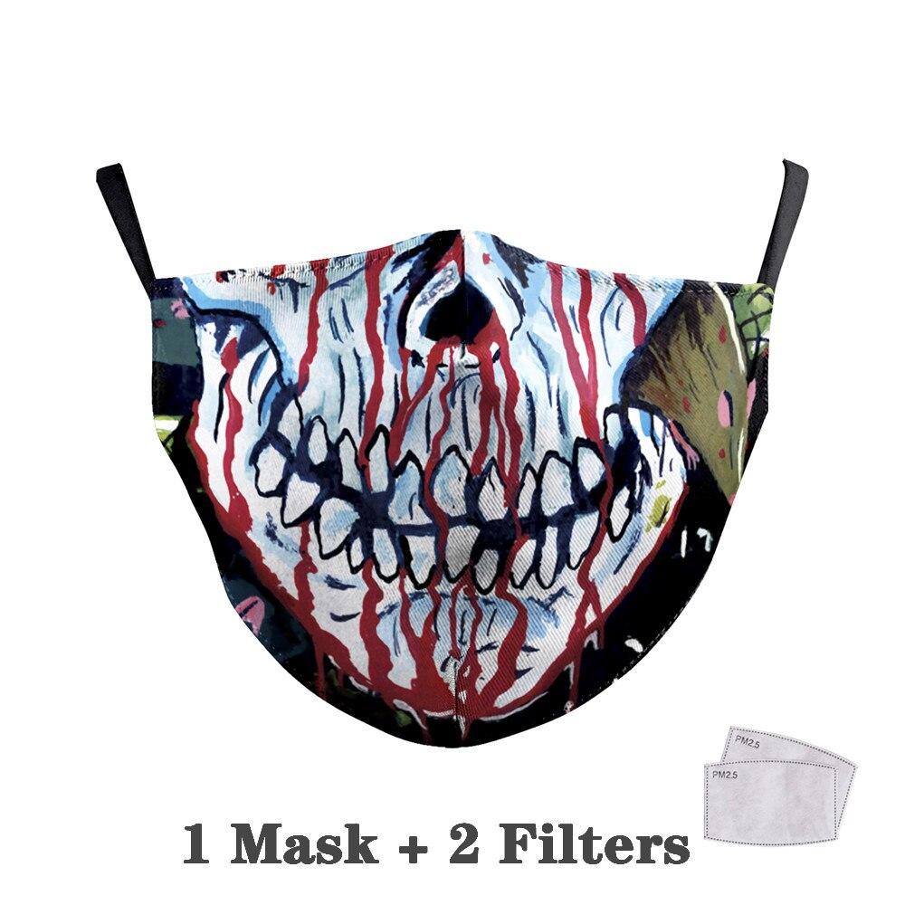 Washable Big Mouth Skull Face Masks 30