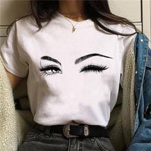 Женская футболка с рисунком теней для век модная топ ullzang