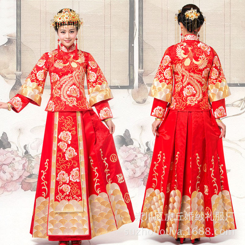 Chinese Cheongsam New Arrival Xiuhe Suit Chinese Wedding Dress Traditional Chinese Clothing For Women
