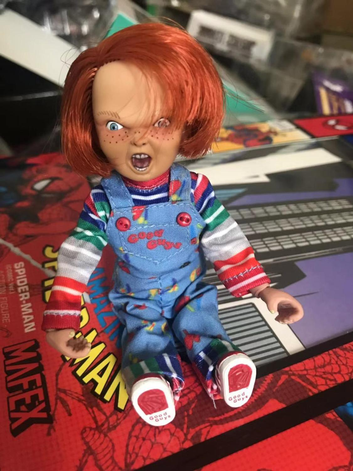 NECA Good Guys Child's Real Clothes Version  Chucky PVC Action Figurs Doll Toy Halloween Horror Gift