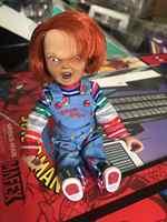 NECA-figuras de acción de PVC, ropa Real para niños, Chucky, muñeco de juguete, regalo de horror para Halloween