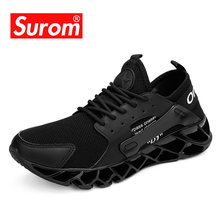 SUROM 2020 Lente Nieuwe Mode Sneakers Mannen Outdoor Training Schoeisel mannen Casual Schoenen Ademend Flyknit Big Size 39- 47(China)