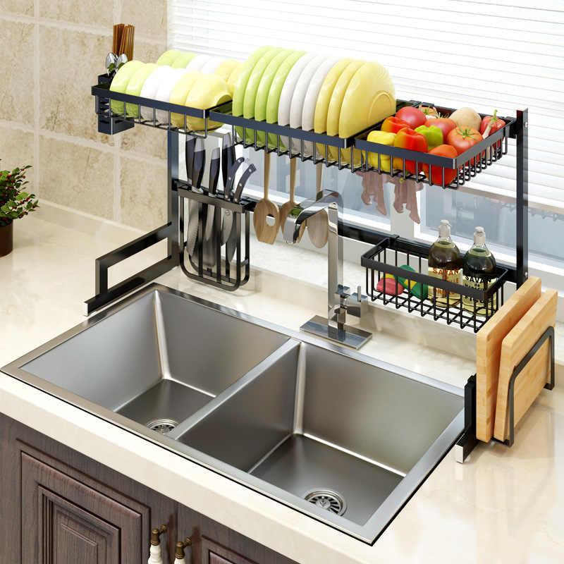 304 stainless steel kitchen supplies organizador de cocina kitchen accessories organizer sink drain rack kitchen sink organizer
