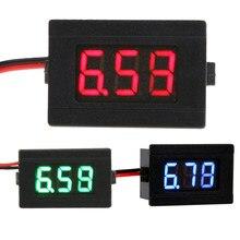 0.36 polegadas led colorido digital voltímetro mini módulo de exibição dc 4.5-30v duas linhas volt medidor de tensão testador medidor de painel medidor