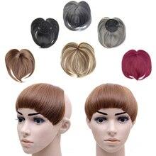 jeedou синтетический волос удары тупым-Банг клип на шиньоны наращивание волос накладные челки черный коричневый женщин