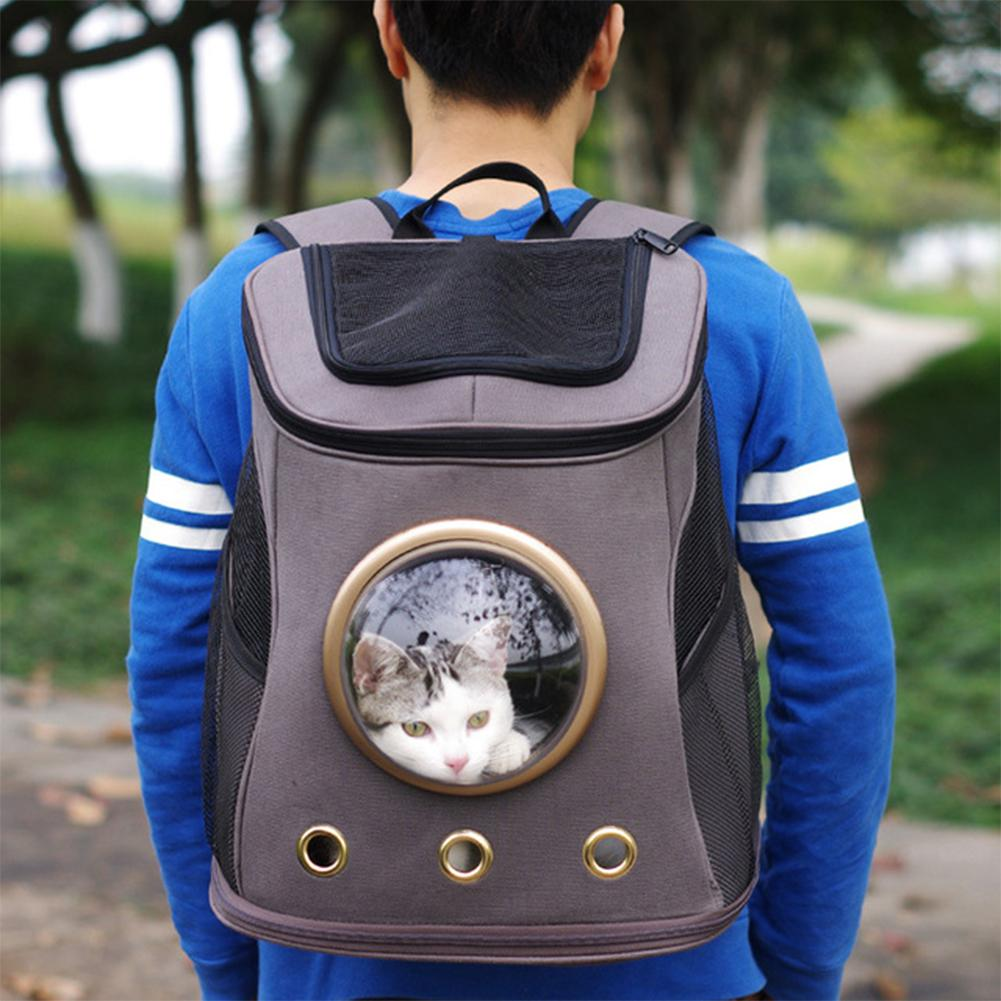 Outdoor font b Pet b font Travel Carrier Space Capsule Canvas Portable Backpack for Cat Dog