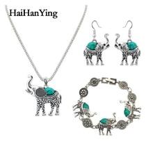Creative Fashion Elephant Necklace Set Unisex Jewelry Retro Bohemian Luxury Glamour Declaration