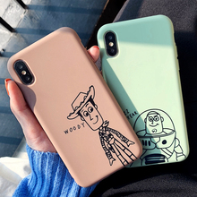 Cute Cartoon Toy Story Woody Buzz Lightyear Phone Case For iPhone 7 X XS MAX XR 6 6S 8 Plus Soft Silicone TPU Cover