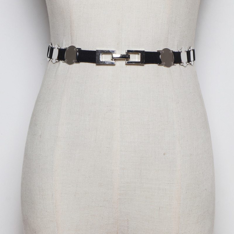2020 New High Fashion Design Alloy Belts For Women Trendy Solid Metal Splicing Corset Belt All-match Waistband Female Tide ZL112