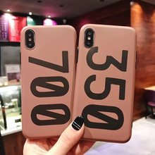 Luxe Sneakers Kanye Omari West BOOST 350 V2 Soft Silicon Cover Case voor Iphone 6 S 7 7plus 8 8plus X 10 XR XS Max Telefoon Coque(China)