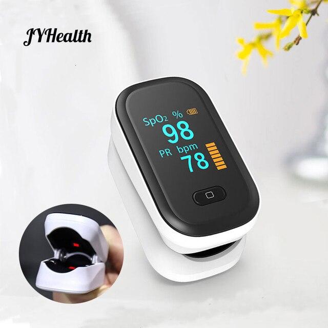 JYHealth Portable Finger Pulse Oximeter Blood Oxygen Heart Rate Saturation Meter Oximetro De Dedo Saturometro Medical equipment
