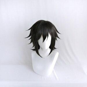 Image 3 - Anime Demon Slayer Kimetsu no Yaiba Tomioka Giyuu Black Ponytail Cosplay Wig Men Women Heat Resistant Synthetic Hair Wigs