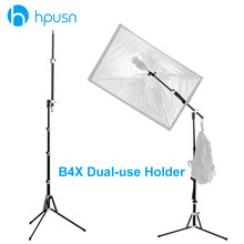 Hpusn B4X support de lumière de photographie double usage Flash Speedlite Umberlla Softbox trépied support en alliage d'aluminium pour éclairage de LED Photo(China)