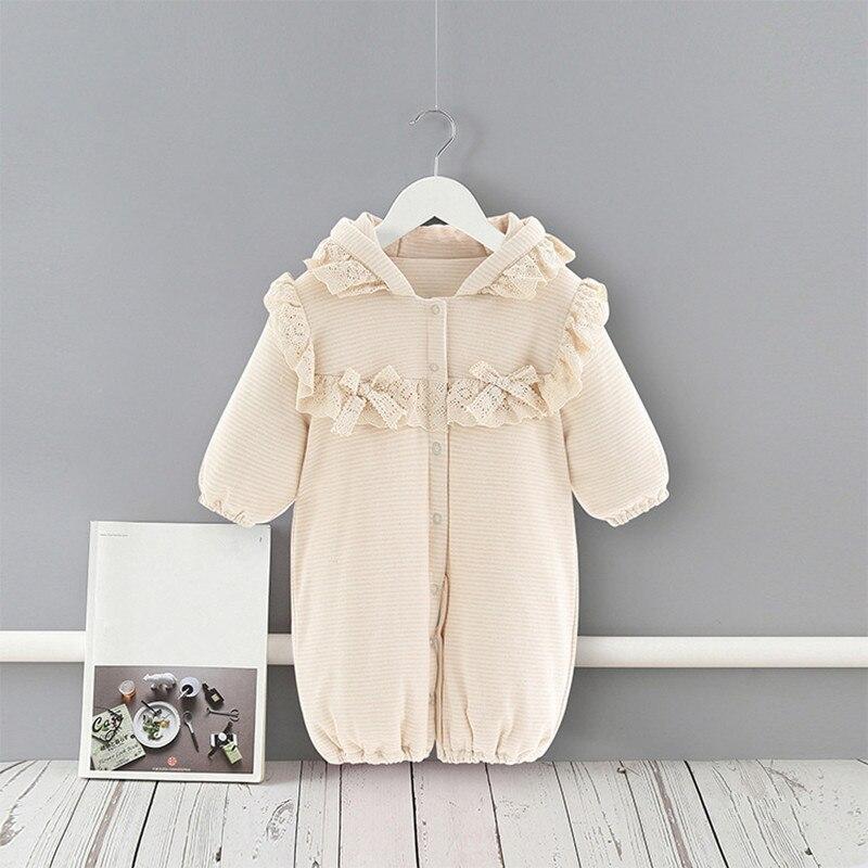 Детская одежда осень-зима, теплый флисовый костюм с капюшоном для маленьких девочек, комбинезон, одежда для малышей, комбинезоны, детская од...