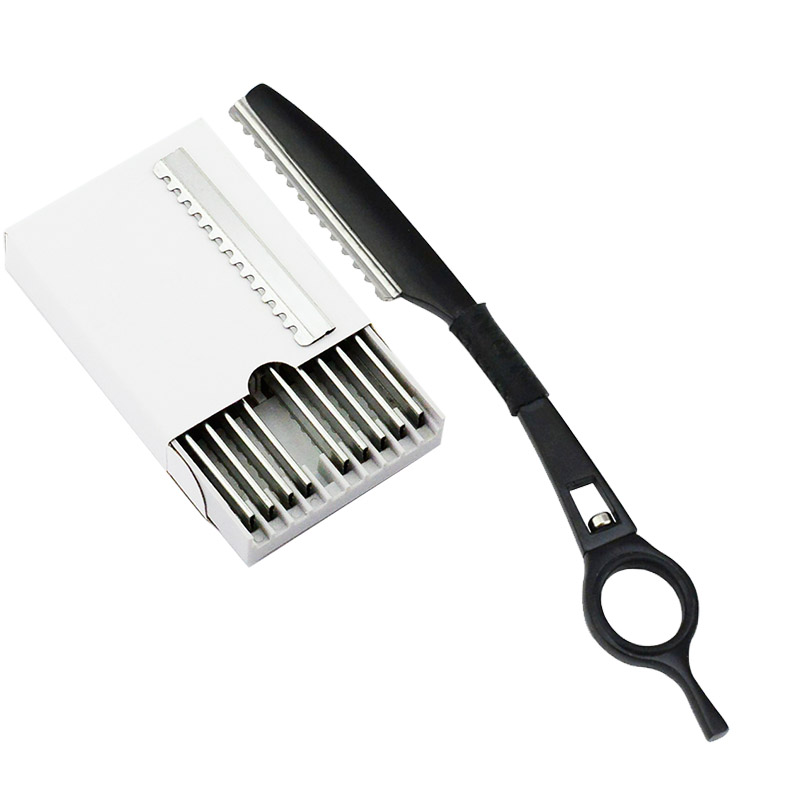 Univinlions Rotary Thinning Razor Blade Straight Salon Hairdresser Razor Hair Cutter Swivel Barber Hair Cutting Knife Thinner