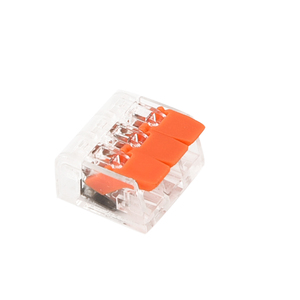 Image 4 - 75 個端子台柔軟な操作レバーホームコンパクトスプライシングコネクタワイヤ 2 3 5 ポール電気ケーブルクランプナット