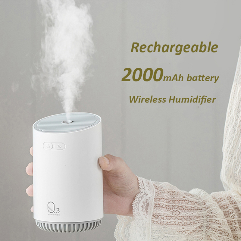 320ML Wireless Air Humidifier With 2000mAh Battery Cool Mist Ultrasonic Electric Essential Oil Diffusers Aromatherapy Diffuser