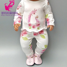 "Fits for 43cm bebe dolls clothes unicorn rompers doll dress for 18"" girl doll clothes doll toys costume(China)"
