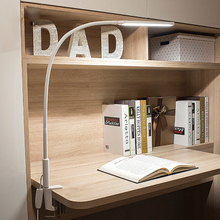 цена на LED Long Arm Table Lamp Led Flexible Gooseneck Touch Dimming Desk Lamp Clip On Lamp For Reading Bedroom Led Light 3 Color Modes