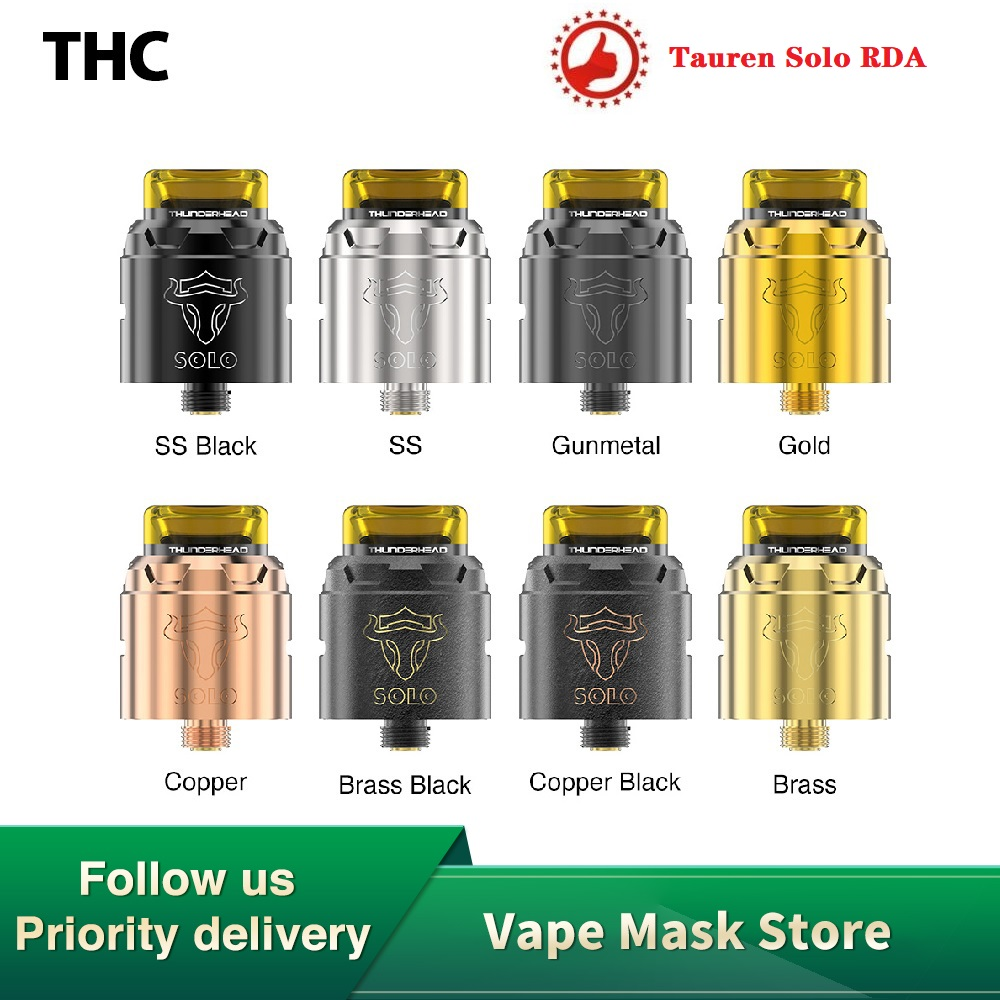 Original THC Tauren Solo RDA With 2ml Capacity With Single Coil & 31-micro Air Holes & Top/bottom Filling Vs INTAKE RTA