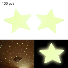 100pcs/lot 3CM Fluorescent Luminous Stars Wall Stickers Stars Glow In The Dark for Kids Baby Room DIY Wall Art Home Sticker free shipping new hot 100pcs 3cm 3d stars glow in the dark luminous fluorescent plastic stickers living decor kids