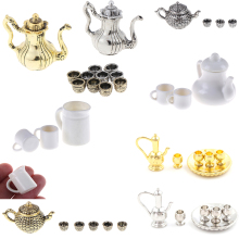 Multiple Tea Set Teapot Cup 1: 12 Tableware Kitchen Dollhouse Furniture Miniature Dining Ware Toy Baby Children Toys
