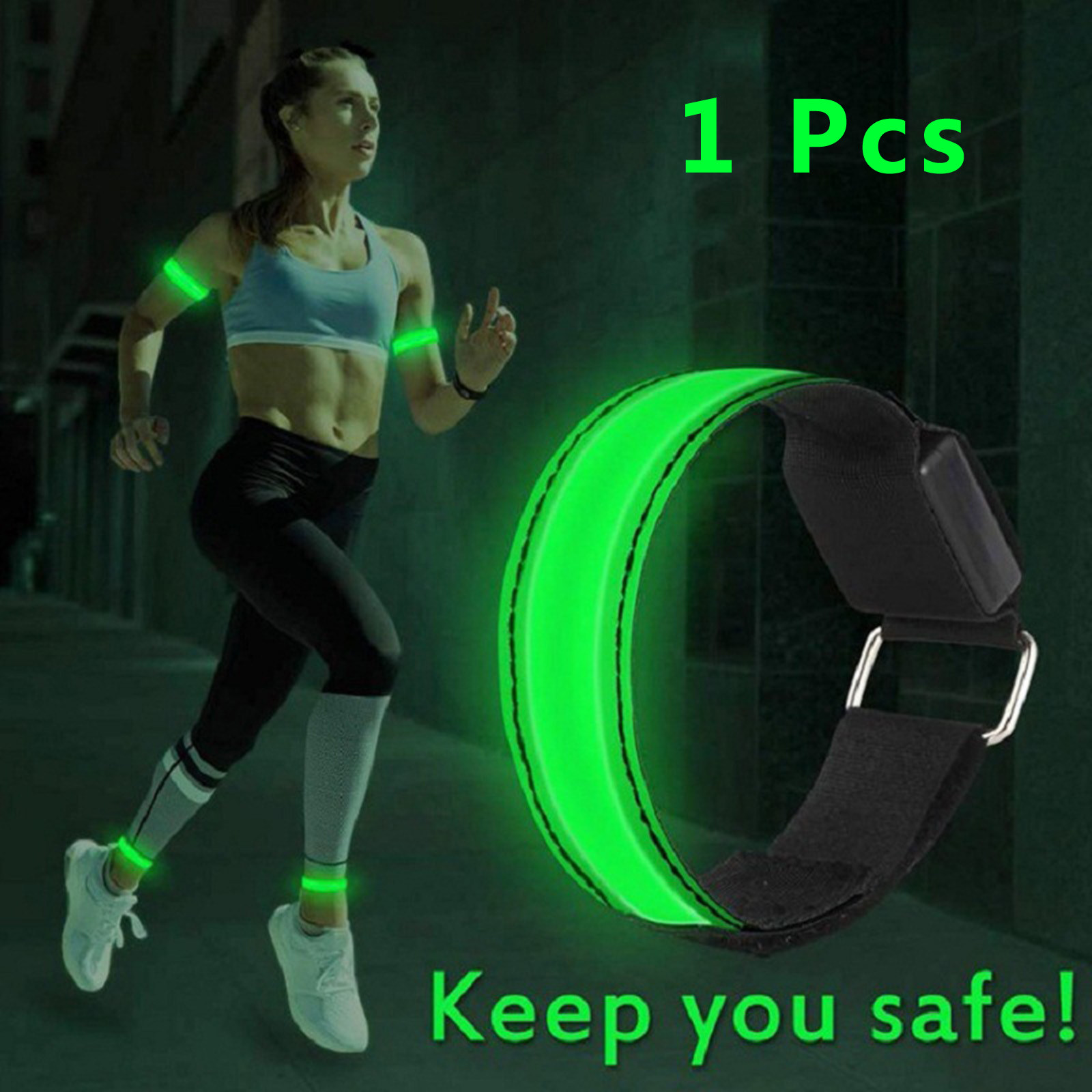 LED Armband Running Lights Ankle Glow Band Flashing Light for Cycling Walking