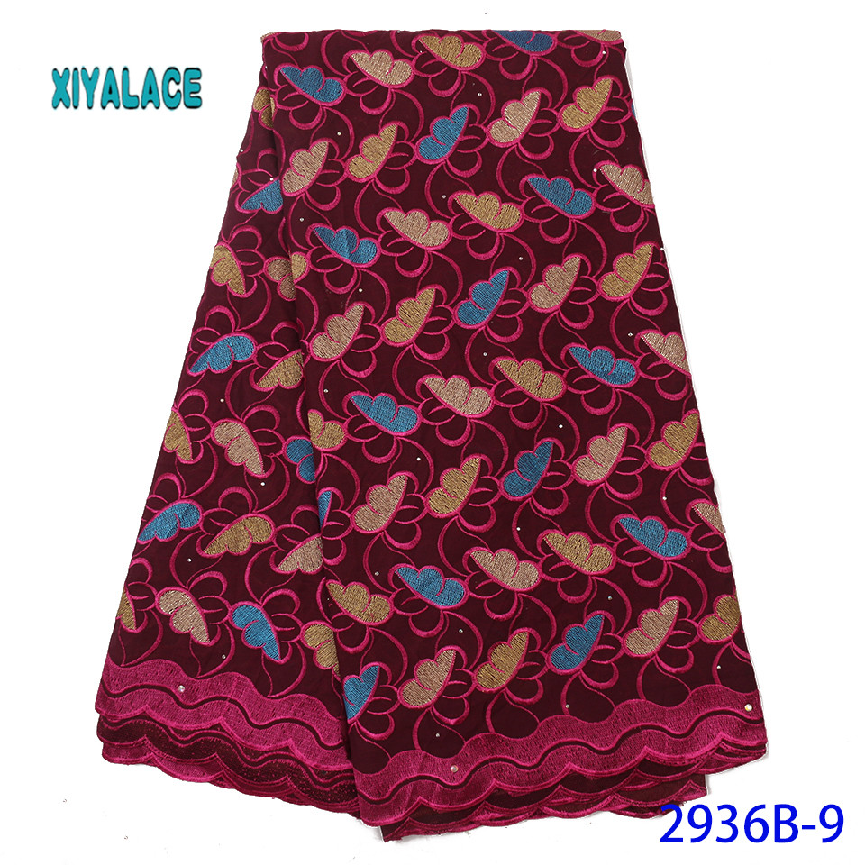 2019 African Lace Embroidered High Quality Switzerland Lace Ftench Lace Agrican Net Fabric French Bridal Lace For Dress YA2936B